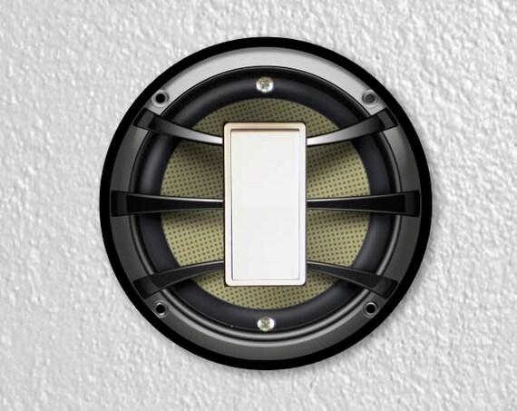 Audio Music Speaker Round Decora Rocker Switch Plate Cover
