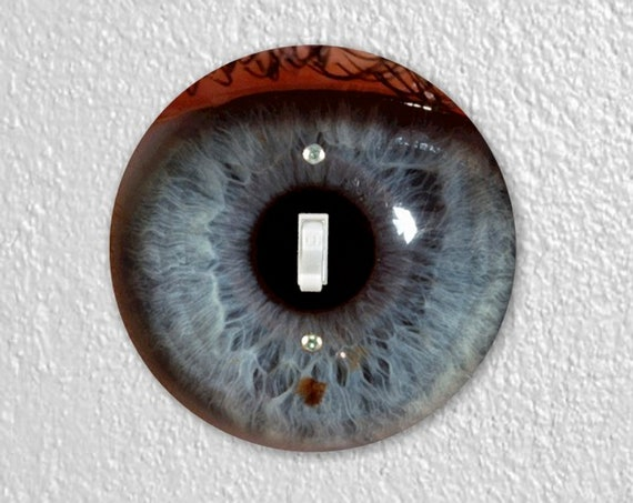 Eye Ball Precision Laser Cut Toggle and Decora Rocker Round Light Switch Wall Plate Covers