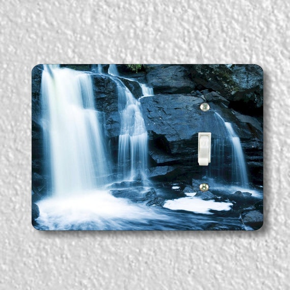 Waterfall Precision Laser Cut Toggle and Decora Rocker Light Switch Wall Plate Covers
