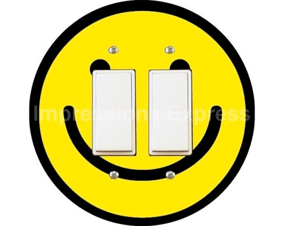 Smiley Face Decora Double Rocker Switch Plate Cover
