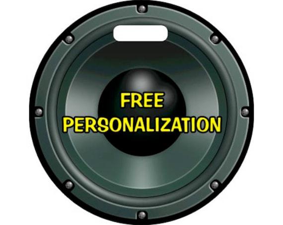 Black Music Loudspeaker Round Personalized Luggage Bag Tag