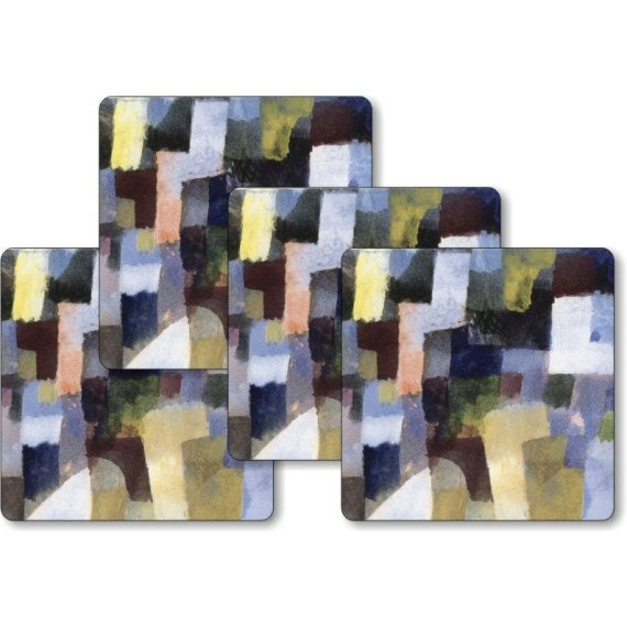 Paul Klee Painting Square Coasters - Set of 4