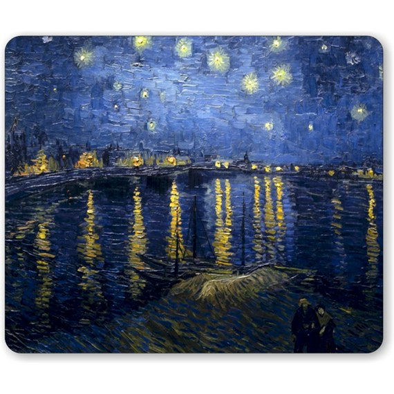 Starry Night Over The Rhone Van Gogh Painting Mousepad