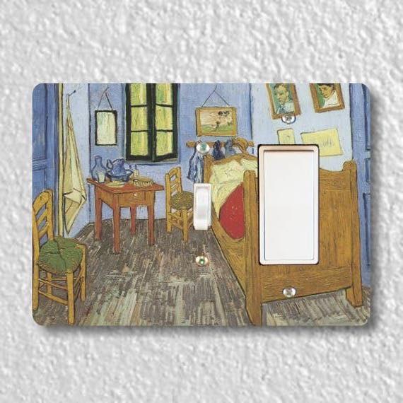 The Bedroom Van Gogh Painting Toggle and Decora Rocker Double Light Switch Plate Cover