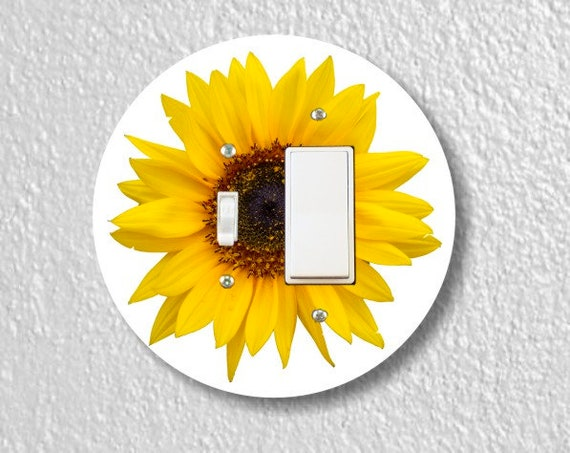 Sunflower Flower Toggle and Decora Rocker Light Switch Plate Cover