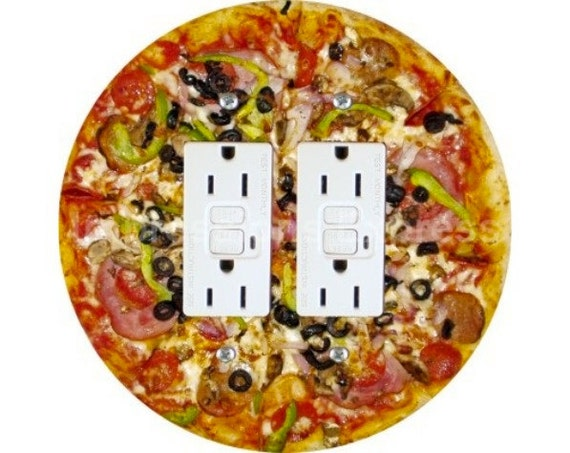 Supreme Pizza Double GFI Outlet Plate Cover