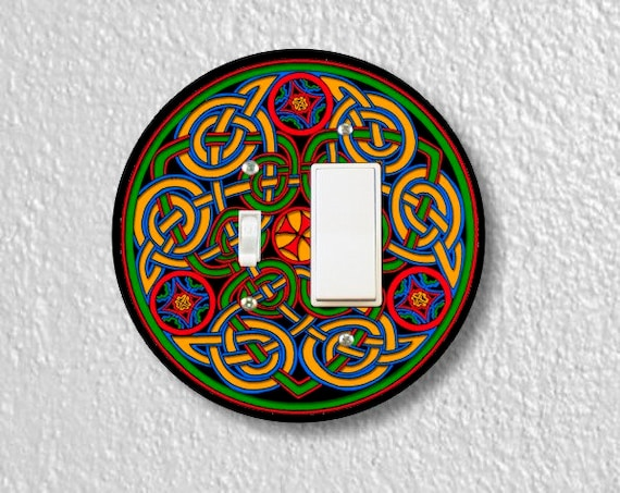 Celtic Knot Round Toggle and Decora Rocker Light Switch Plate Cover