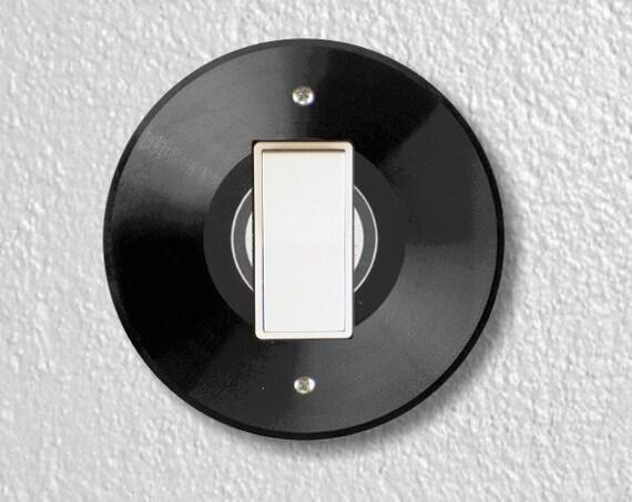 Vinyl Record Round Decora Rocker Light Switch Plate Cover