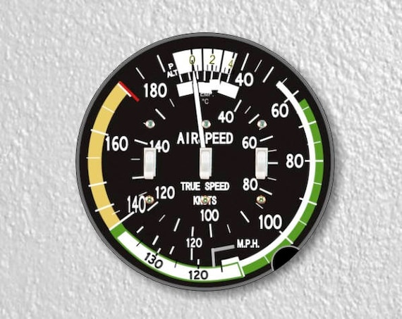 Aviation Airspeed Indicator Round Triple Toggle Switch Plate Cover