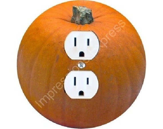 Pumpkin Duplex Outlet Plate Cover