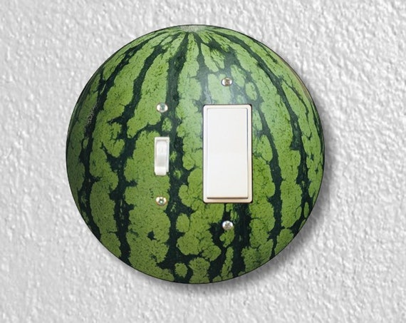 Precision Laser Cut Round Toggle and Decora Rocker Light Switch Plate Cover - Watermelon Fruit - Home Decor - Wallplates