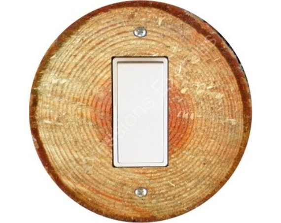Tree Log Decora Rocker Switch Plate Cover
