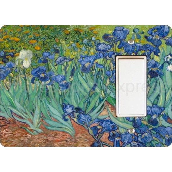 Van Gogh Irises Painting Decora Rocker Light Switch Plate Cover