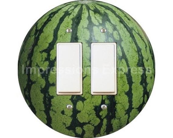 Watermelon Fruit Decora Double Rocker Switch Plate Cover
