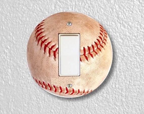 Baseball Ball Sport Round Decora Rocker Switch Plate Cover