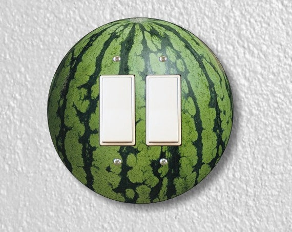 Watermelon Fruit Round Decora Double Rocker Light Switch Plate Cover