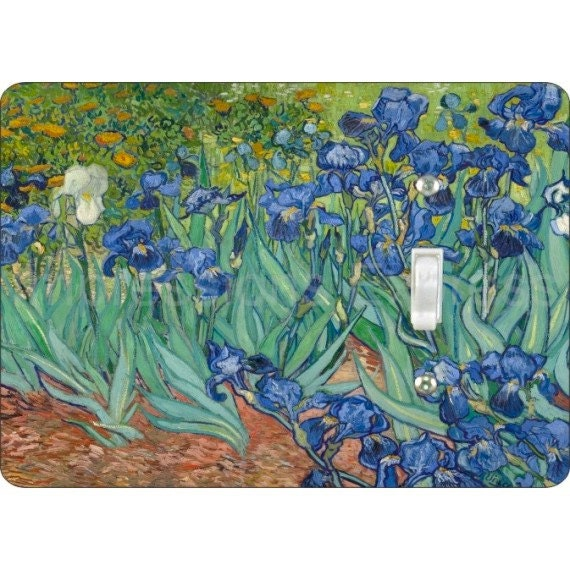 Van Gogh Irises Painting Single Toggle Light Switch Plate Cover