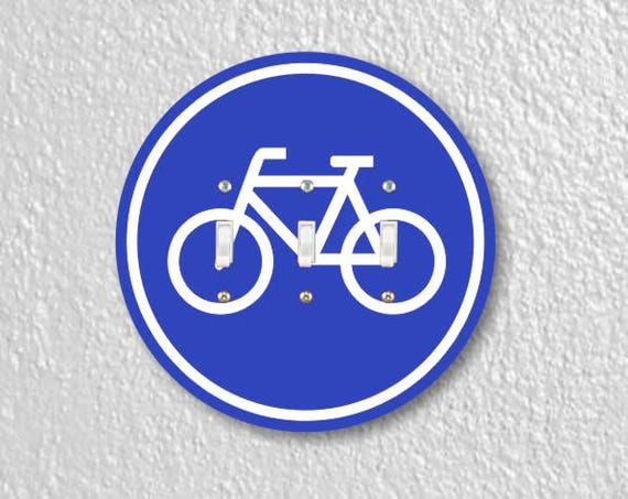 Bicycle Sign Round Triple Toggle Light Switch Plate Cover