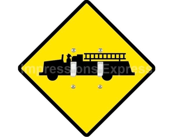 Fire Department Sign Double Toggle Light Switch Plate Cover