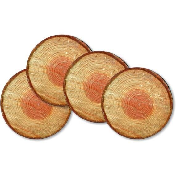 Tree Log Coasters - Set of 4