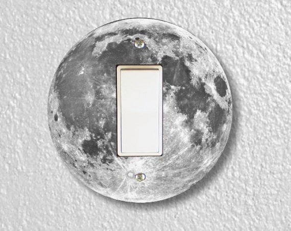 Moon from Space Decora Rocker Round Light Switch Plate Cover
