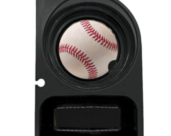 White Baseball Round Sandstone Car Cupholder Coaster