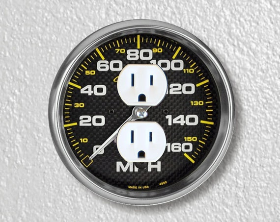 Car Speedometer Precision Laser Cut Duplex and Grounded Outlet Round Wall Plate Covers