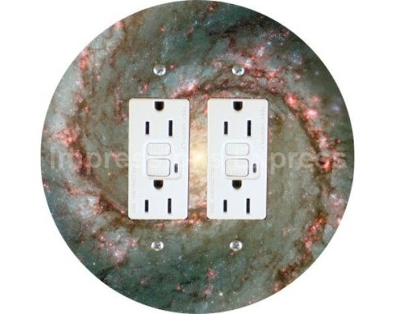 Whirlpool Galaxy Space Double GFI Outlet Plate Cover