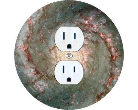 Whirlpool Galaxy Space Duplex Outlet Plate Cover