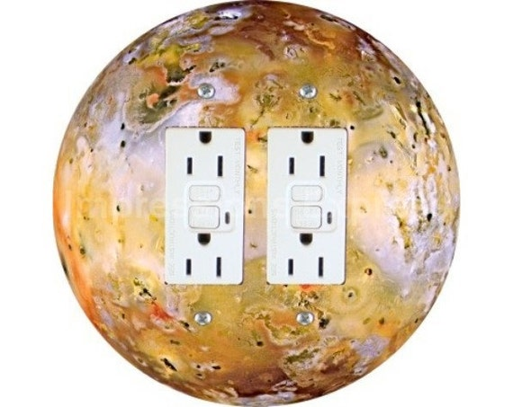 Jupiter Moon Io Space Double GFI Outlet Plate Cover