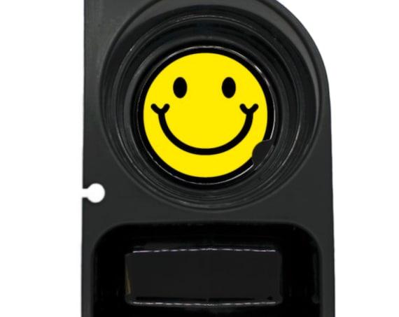 Smiling Face Round Sandstone Car Cupholder Coaster