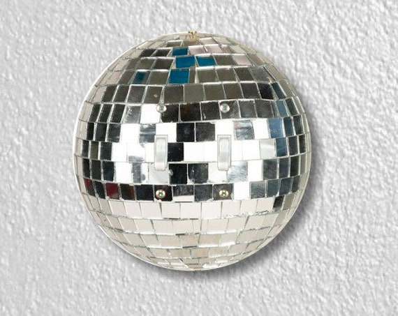 Disco Ball Round Double Toggle Light Switch Plate Cover