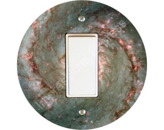 Whirlpool Galaxy Space Decora Rocker Switch Plate Cover