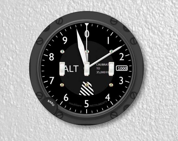 Altimeter Aviation Triple Toggle Round Light Switch Plate Cover