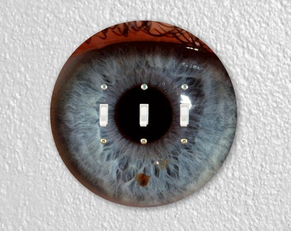 Eye Ball Round Triple Toggle Light Switch Plate Cover