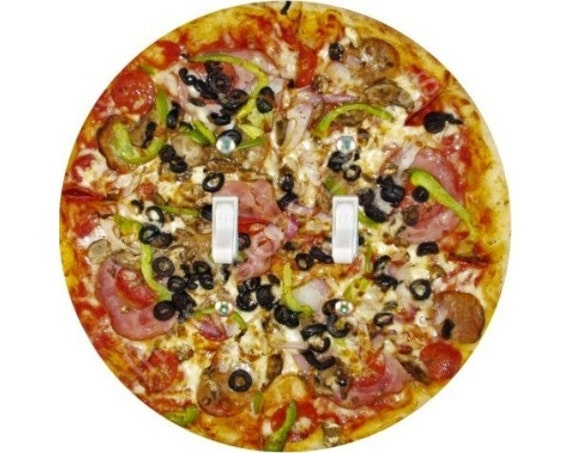 Supreme Pizza Double Toggle Switch Plate Cover