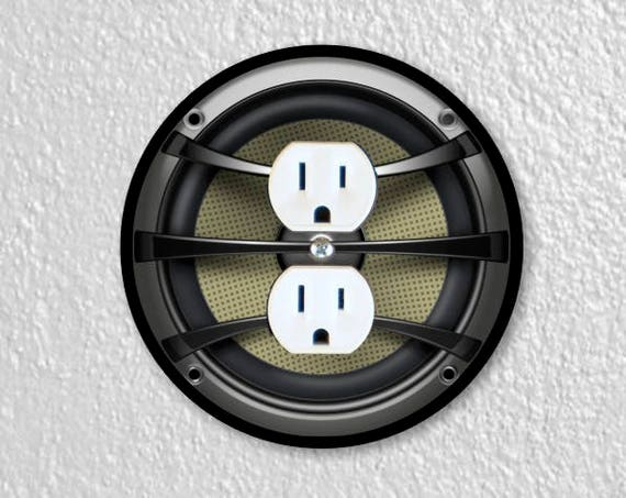 Audio Music Speaker Round Duplex Outlet Plate Cover