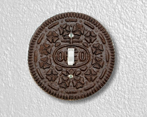 Chocolate Sandwich Cookie Precision Laser Cut Toggle and Decora Rocker Round Light Switch Wall Plate Covers