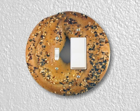 Bagel Precision Laser Cut Round Toggle Light Switch and Decora Rocker Light Switch Wall Plate Cover