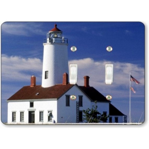 Lighthouse Nautical Double Toggle Light Switch Plate Cover