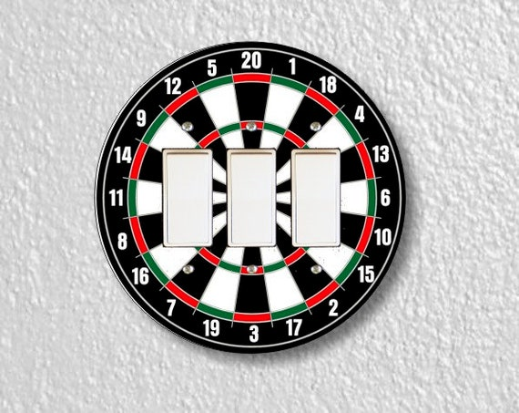 Darts Dartboard Round Triple Decora Rocker Light Switch Plate Cover