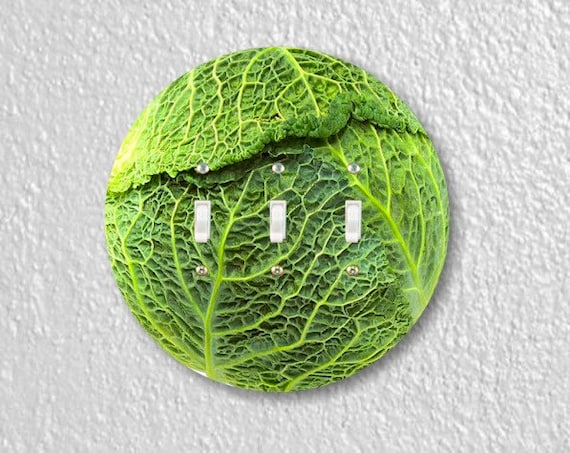 Cabbage Round Triple Toggle Switch Plate Cover
