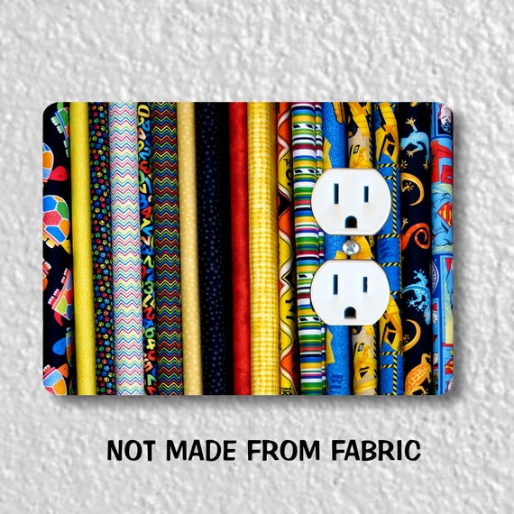 Quilt Fabric Duplex Outlet Plate Cover