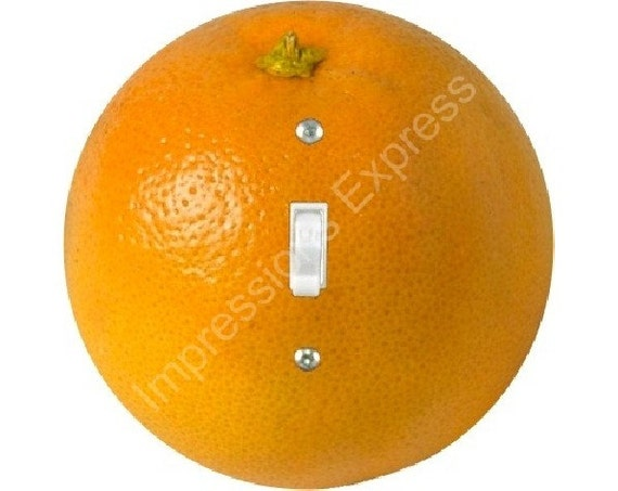 Orange Fruit Single Toggle Switch Plate Cover