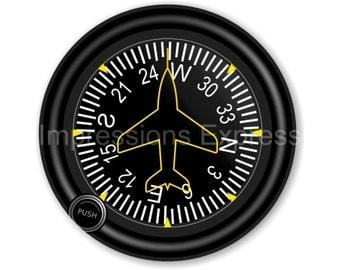 Direction Heading Indicator Aviation Round Mousepad