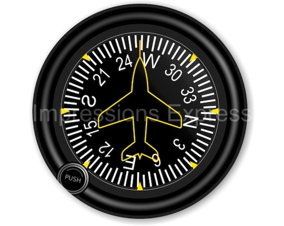 Direction Heading Indicator Aviation Round Mousepad