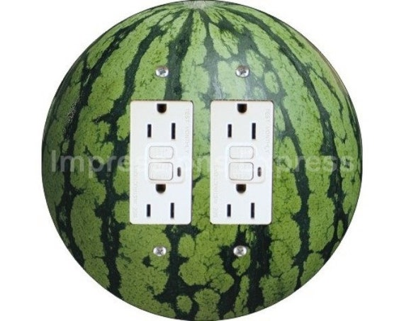 Watermelon Fruit Double GFI Outlet Plate Cover