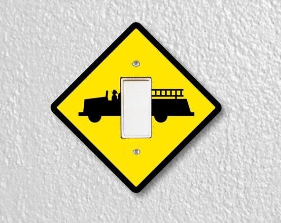 Fire Department Sign Decora Rocker Light Switch Plate Cover