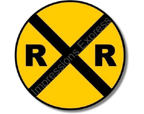 Railroad Crossing Sign Round Mousepad
