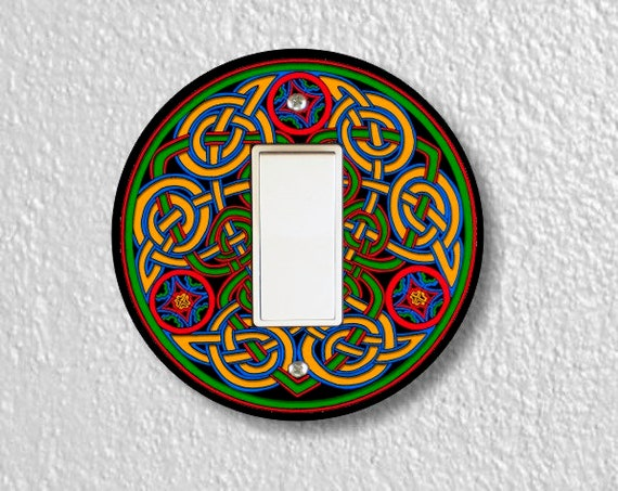 Celtic Knot Round Decora Rocker Light Switch Plate Cover